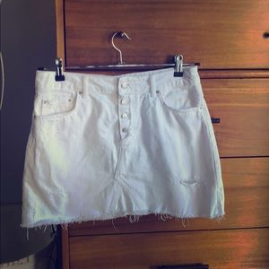 ZARA white denim skirt